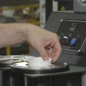 cup in machine